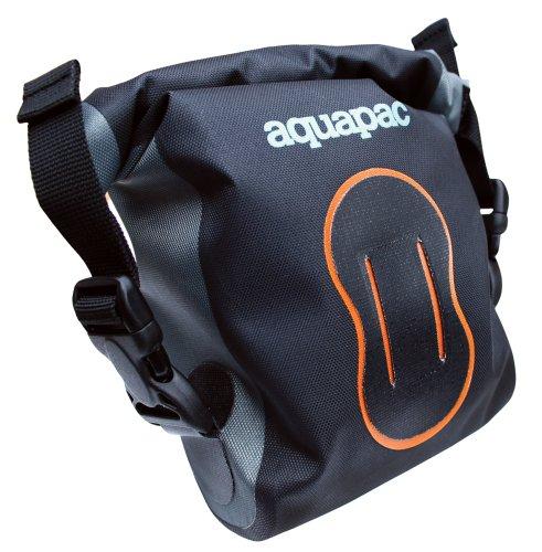 Aquapac Estuche Impermeable para cámara de Fotos Digital (Negro/Naranja, Talla S, IPX6)