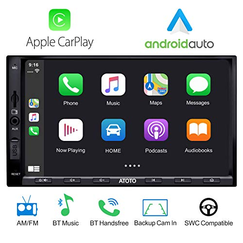 ATOTO Year Series in-Dash Double Din Digital Media Car Stereo - SA102 Starter YS102SL CarPlay & Android Auto Receiver w/Bluetooth, AM/FM Radio Tuner,USB Video & Audio,and More