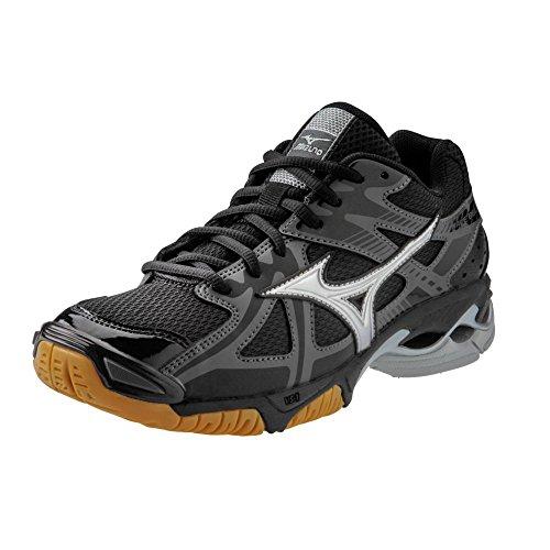 Mizuno Wave Bolt 4 Women's Volleyball Shoes - Black & Silver