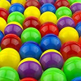 Vending Machine Capsules in Bulk - 250 Pcs Toy Capsules - Assorted Colors 1.3 Inches Oval Plastic Capsules - Prize Container Vending Capsule - Plastic Party Favor Containers