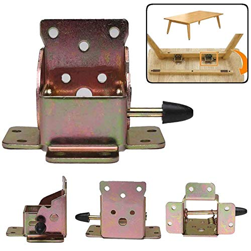 Nologo SSB-JIAJUPJ, 4Pcs Eisen Locking Klapptisch Stuhl Bein Halter Scharniere Klapptisch Bein Scharnier for Möbel Klappscharnier Hardware-Tools (Size : 75mm)