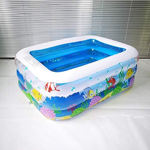 LeiDyWer Stahlrahmenbeckeaufblasbarer Pool Großer Kunststoffbecken Badewanne Wärmeschutz Sicherheitspool