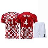 Fußballtrikot Kroatisches Set Perisic 4 Unisex-Trainingshemd Athleten-Trikot-Sweatshirt Maßgeschneiderte Trainingskleidung kann wiederholt gewaschen werden-red2-22