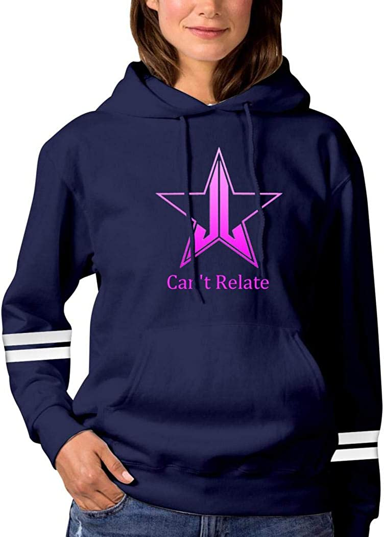 Amazon.com: La8La Women's Fashion Printing Long Sleeve Hoodie,Jeffree -Star  Can't Relate Pullover/Sweatshirts with Pocket and Hat.: Clothing
