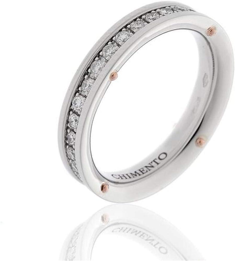 Chimento,anello per donna in oro bianco 18 kt(6,1gr),impreziosito da diamanti 0.58 ct 1A08483B25140