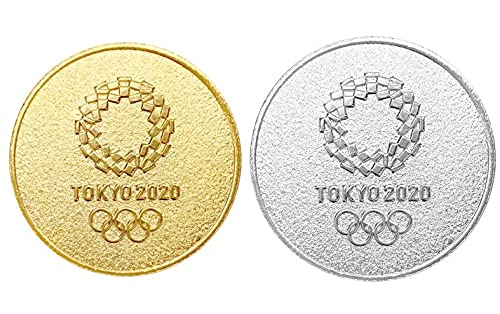 東京 2020 オリンピック 記念メダリオン 2種セット ゴールド & シルバー 公式 グッズ