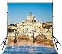 HD郡5x7ftセントピーターズ大聖堂写真撮影の背景イタリア建築写真スタジオの背景小道具1.5×2.1m BG0060