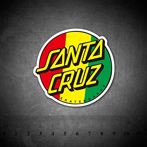 BLOUR Santa Cruz Sign Stickers Impermeable para Equipaje Coche Guaitar Skateboard Snowboards Teléfono Laptop Bicicleta Moto Niños Sticker