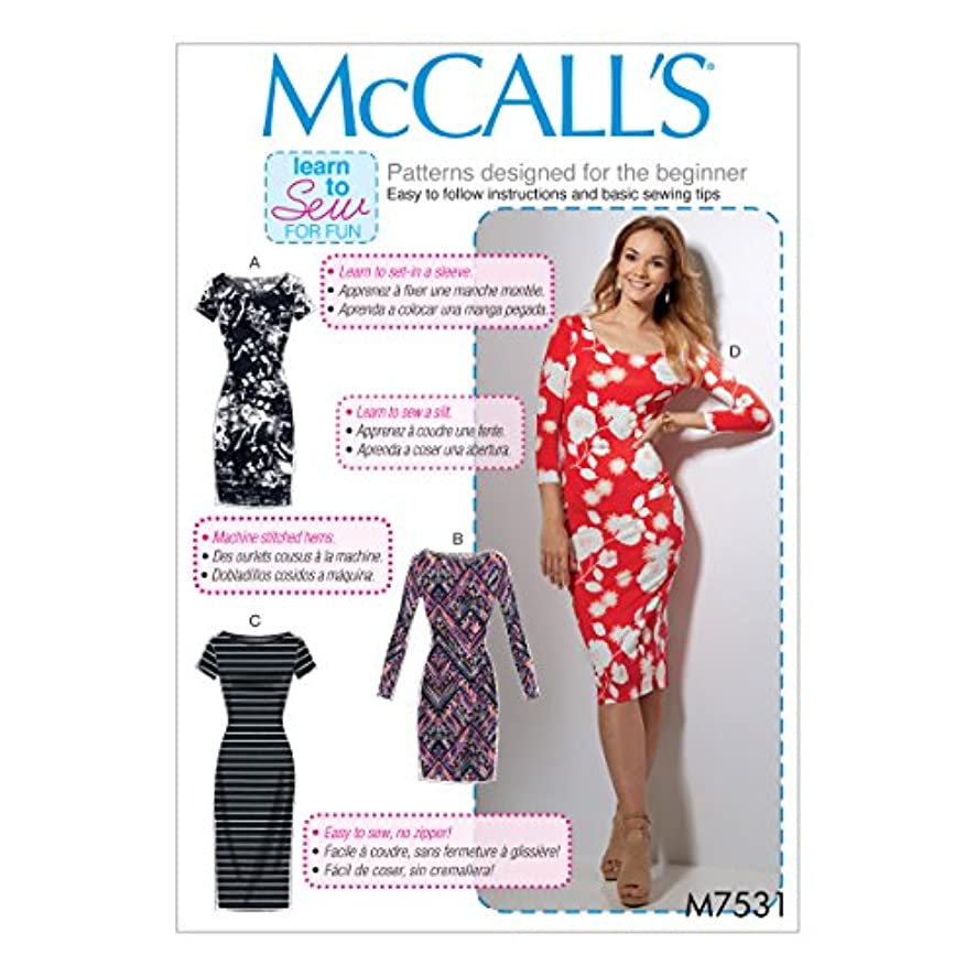 McCall's Patterns M7531ZZ0 Bodycon Dresses Sewing Pattern