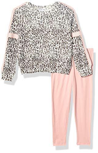 Splendid Girls Long Sleeve Legging Set, Leopard - Little Kid, 4/5