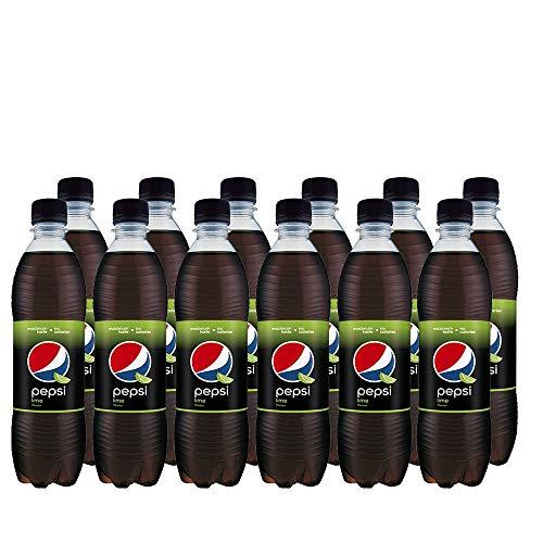 Pepsi Cola Lime (12 x 500ml) Erfrischende Pepsi Cola mit Limettengeschmack
