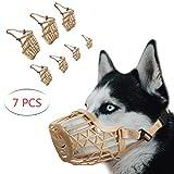 ILEPARK Baskerville Maulkorb für Hunde 7PCS Verstellbarer aus für Kleine