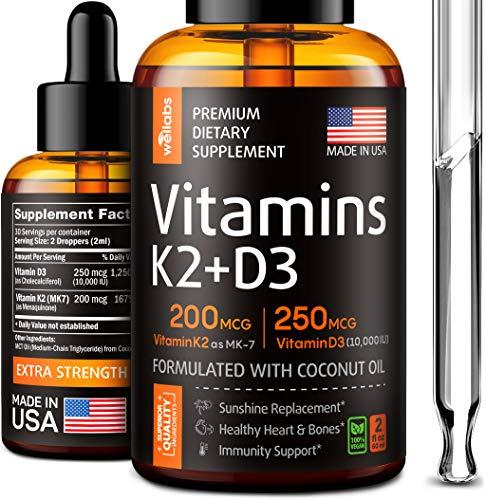 Wellabs Vitamin K2 + D3 Supplement