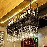 AERVEAL Adjustable Ceiling Style Wine Glass Holder Storage Hanger Holder to Hang Cocktail or Champagne Flutes for Kitchen, Bar, Pubs or Restaurants Rack,B,120Cm(47.2In)