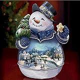 Lazodaer Kit de peinture diamant 5D pour adultes et enfants Décoration murale de Noël Bonhomme de neige 30 x 30 cm