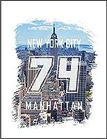 【FOX REPUBLIC】【ニューヨーク 風景 ロゴ ブラシ】 白マット紙(フレーム無し)A3サイズ