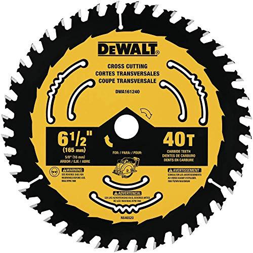 professional DEWALT DWA161240 6-1 / 2 inch 40 tooth circular saw blade