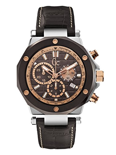 gc- gc-3 Herren Uhr analog Quarzwerk mit Leder Armband X72018G4S