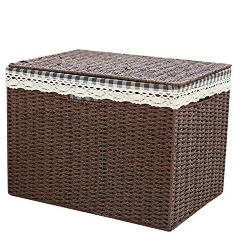 Rangement et organisation Coffres de rangement Boîte de rangement tissée boîte de rangement boîte de rangement avec couvercle grande boîte de rangement vêtements vêtements articles divers boîte de ran