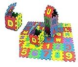 36 pcs Alfombra Goma Puzzle rompecabeza para habitación de Juego de Bebe Protectora de Suelos para niños Mayores de 36meses. Piezas de Espuma entrelazables Multicolor Unisex Eva 14cm