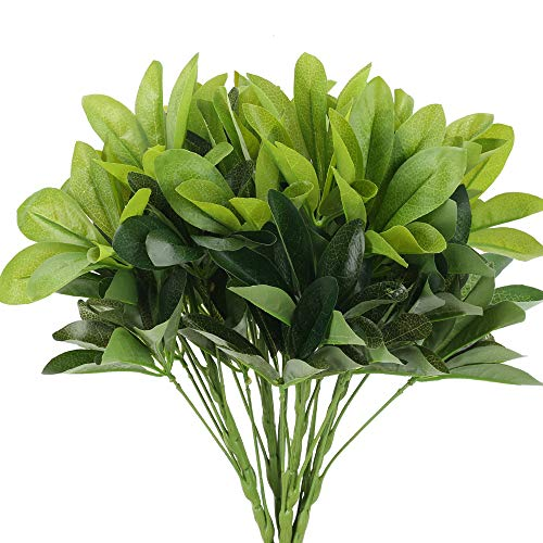 NAHUAA Künstlicher Schefflera Arboricola Regenschirm Pflanzen Deko mit Grün Blätter Plastik Zimmerpflanze Grünpflanzen für Balkon Garten Hochzeit Zuhause Außenbereich Kunstpflanzen