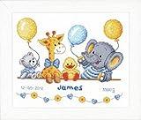 Vervaco - Juego de Punto de Cruz para Recuerdo de cumpleaños, diseño de Animales