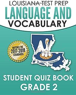 Louisiana Test Prep Language & Vocabulary Student Quiz Book Grade 2: Covers Revising, Editing, Vocabulary, Spelling, and G...