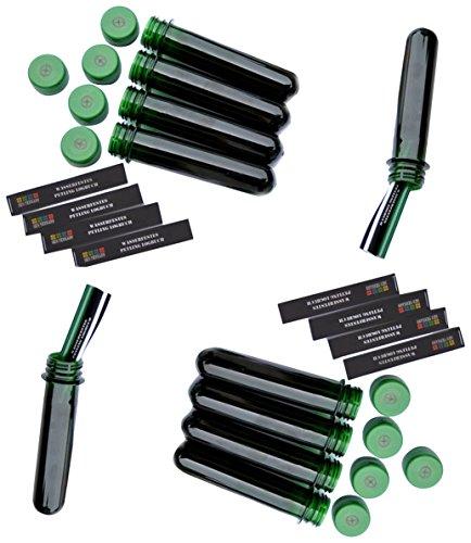 GEO-VERSAND 10 x Petling -nur mit Logbüchern und Deckel, grün, 13 cm, 10079