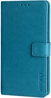 CASE BOX Faux Leather Flip Wallet with Card Slot Case for Xiaomi Poco M2 Pro(SkyBlue)