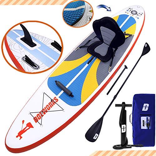 DURAERO Stand up Paddle Board Aufblasbare SUP Board Set, Kajak Komplett-Set, Luftpumpe, Doppel-Paddel, Komplettes Zubehör, 300x76x15cm, bis 110kg,Weiß