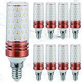 9-Pack Bombillas LED Tipo maíz de 20W Sin Parpadeo Ángulo de Haz de 360 ° E14 / E27 20W Equivalente a Bombillas halógenas de 200W Bombillas LED de atenuación de Tres Colores
