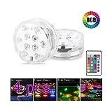 Winbang Unterwasserleuchten, LED-Teichbeleuchtung Ferngesteuerte RGB-Unterwasserleuchten...