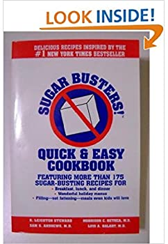 Paperback Sugar Busters Quick and Easy Cookbook Book