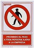 WOLFPACK LINEA PROFESIONAL 15050530 Cartel Prohibido el Paso Persona Ajena Empresa 30x21