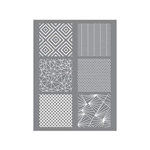 Polimero di stencil geometrici 11,4 x 15,3 cm
