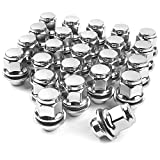 MIKKUPPA 24pcs m12x1.25 Lug Nuts - 1.47 Inch 13/16 Hex OEM Mag Washer Style Factory Replacement Chrome Lug Nuts Replacement for Nissan Infiniti Factory Wheels