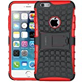 iPhone 6 Case, iPhone 6s Case,ALDHOFA Protective Phone Case,Dual Layer TPU Hard Case with Kickstand for iPhone 6/6S Case - Red