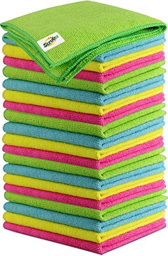 Paño de limpieza de microfibra sin pelusas, toallas antibacterianas para casa, cocina, coches, ventanas, ultra absorbentes y súper suaves (24 unidades)