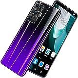 GELEI Smartphone Barato Libre 5G, Teléfono Móvil Bueno con Pantalla FHD+ de 5,5', Android 10 Octa Core, 4GB + 64GB, AI Cámara Dual de 16MP, Batería de 4800mAh, Dual SIM, NFC,Púrpura