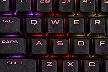 for Corsair K70Pbt Double-Shot Keycaps Full 104 -Keyset - RGB & Backlit Compatible – for Mechanical Keyboards - FPS MOBA MMO - Black Corsair keycap Replacement Key