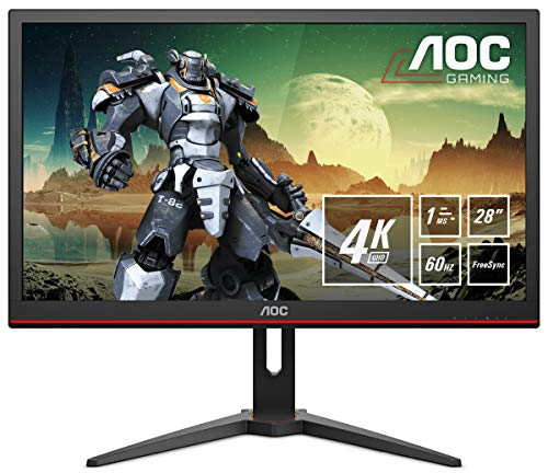 AOC 27G2U5 80 cm (27 Zoll) Gaming Monitor (FHD, HDMI, DisplayPort, Free-Sync, 1ms Reaktionszeit, 75 Hz, 1920x1080) schwarz/rot