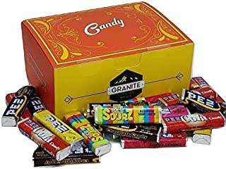 PEZ Candy Refill Rolls and Candy Gift Box Set: Includes Sourz, Cola, Chocolate, and Fruit Flavors (24 Rolls Included) Along With a Candy Gift Box