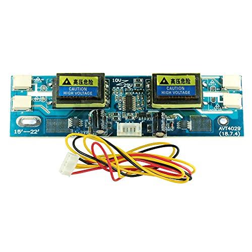 ndliulei Nuevo Monitor de Ordenador portátil LCD con inversor CCFL Universal, 4 lámparas, 10-29 V y Pantalla Ancha de 15-22'
