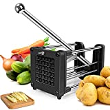 French Fry Cutter for Air Fryer, Reliatronic Stainless Steel Potato Chipper with Extended Handle, 2 Different Size Super Sharp Blades, Perfect for Cutting Potatoes, Carrots, Cucumbers