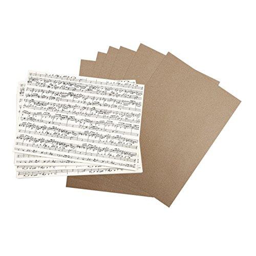 Kraftpapier-Set Musiknoten, 30 Blatt, DIN A4, 100 g, Bastelpapier