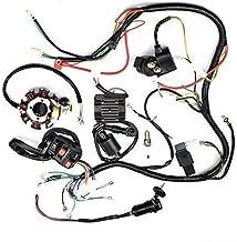 Complete Electrics Stator Coil CDI Wiring Harness for 4 Stroke ATV 150cc -250cc Quad Bike Buggy Go Kart Pit Dirt Bikes