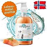 IdaPlus Huile de saumon - Vitamine D, oméga 3+6 - Renforce le squelette - Peau et pelage - fabriqué en Allemagne (500 ml)