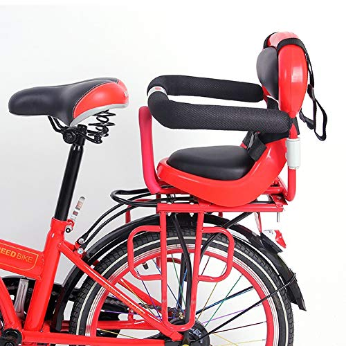 Amazing Deal NACHEN Bicycle Child Safety Rear Seats with Seat Belt Detachable Fence Armrest and Pedal