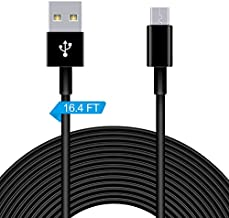 16.4FT Extension Charging Cable and Data Sync Cord for PS4/Xbox One Controllers,Kindle Fire,Android,USB to Micro USB Power Cable for WyzeCam,YI Camera,Nest Cam Indoor,Oculus Go, and other Security Cam