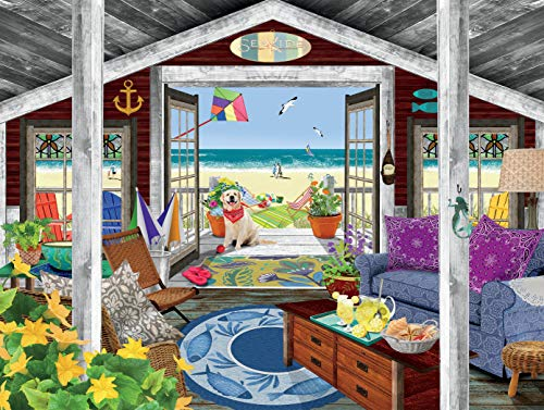 Ceaco Tracy Flickinger Beach Cottage Jigsaw Puzzle, 300 Pieces